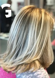 light blonde balayage-