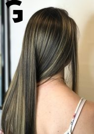perfect balayage on Brunette-