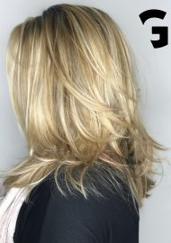 Honey blonde balayage by Nigel