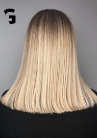 Icy light blonde balayage