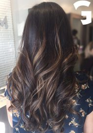 Peekaboo Balayage on a brunette