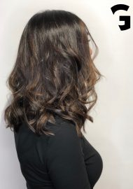 Sunkiss balayage ombré on a brunette