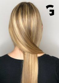 blonde hair painted balayage.