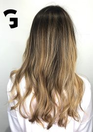 golden blonde sun kissed balayage