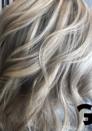 light blonde balayage close up