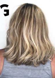 light blonde balayage on natural base color