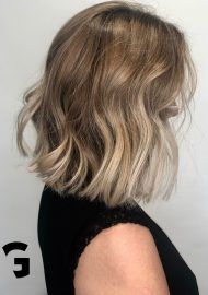 trendy lob hairstyle soft balayage