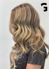 golden blonde locks