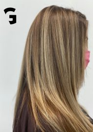 perfect soft bend balayage highlights
