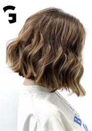 sharp lob hair cut