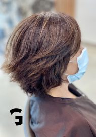 textured easy short hair cut